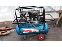 Clarke Air Industrial 3Hp 50Ltr Compressor 110v