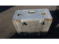 """19"""" Rack Mounting Cabinet Flight Case. Removable rear and front covers 6U high on wheels"""