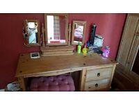 Solid wooden desk/dressing table