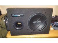 alpine bass engine sub with v-power amp
