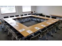 High quality meetings rooms with free parking