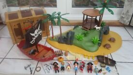PLAYMOBIL: Pirates - Turtle Island / Pirate Ship / Treasure Chest