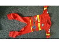 3-4 fireman onesie