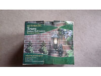 Outdoor motion sensor wall lantern light BNIB