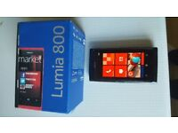 Nokia Lumia 800 Windows Phone, full working order with box, charger, etc.
