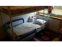 Bunk Bed White with 2 mattress