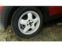 Mini Cooper Alloys with Tyres 4x100