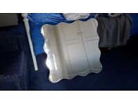 SET OF FOUR WAVY BEVELLED EDGE MIRRORS 650MM X 650MM VERY GOOD CONDITION COULD DELIVER LOCALLY.