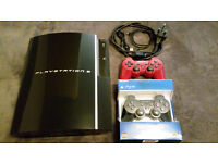 Playstation 3 + 10 games + Brand new controller for sale