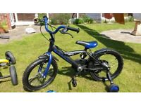 Boys Bicycle including stabilisers excellent condition. Suitable for a child aged 5 to 8 years