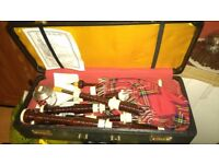 Bagpipes and hard case.