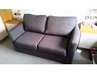 sofa bed, Debenhams, charcoal grey fabric, used once, very comfortable