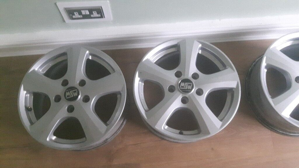 "MSW by Oz alloy wheels. 16"" brilliant condition"