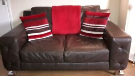 2 + 4 seater leather sofas