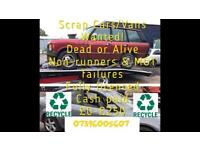 Scrap cars/vans wanted for cash sell your car today for cash wanted dead or alive