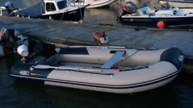 Inflatable boat dinghy Rib Sib 3.8 meters long Boatworld