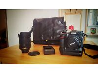 Nikon D7100 + 18-105 mm and 50 mm 1.4 D lenses + all extras. Excellent condition.