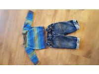 Baby boy jumper and jeans