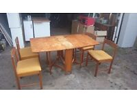 Dining table set retro