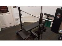 Olympic Bench Press with spotters plate & 2 x bars