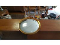 Antique Copper Curved Glass Mirror