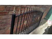 Wrought iron fence in very good condition.