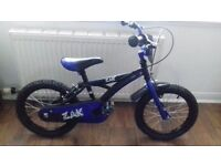 16 inch boys bike black and blue