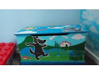 wooden toys storage box