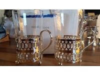 Vintage Silver Plated tableware – Silver plated and glass insert cups