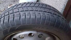 2 x Snow tyres and rims
