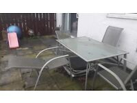 Garden table and 4 chairs only £20!