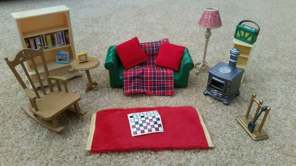 Sylvanian Families Very Rare Cosy Living Room Light up Log ...
