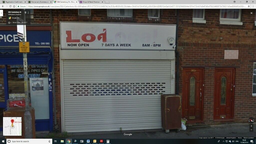 04591183a2 Ground floor shop in a good location near school and supermarket. 302b  Canterbury Street. £750pcm