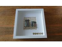 home made picture box frame - Family (9 x 9 inches)