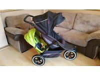 Phil & Teds Double Pushchair Pram Stroller + Accessories And Cocoon