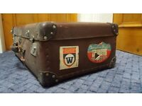 Vintage suitcases x2 - ideal for a collection or dressing a room