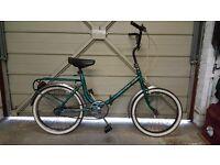2 fold up retro push bikes