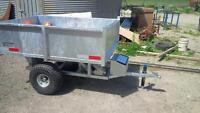 4'x6' A.T.V. electric dump trailer good for 1500 lbs