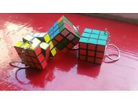 Coloured puzzle cube keychain