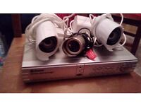 heavy duty CCTV system with recorder.
