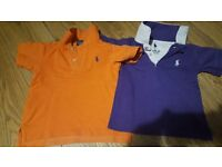 2 x Ralph Lauren for 2 years boy's polo shirts....
