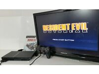 Slimline Sony PS2 with Resident Evil Game