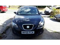 2005 55 SEAT Leon Stylance 1.6 Petrol Mk2 top of the range hatchback in black for Spares or Repairs