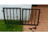 Iron metal garden gate