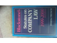 3 BLACKSTONE'S BOOKS ONE ON COMPANY LAW ONE ON PROPERTY LAW AND ONE ON COMMERCIAL &CONSUMER LAW