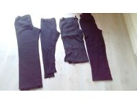 Maternity bundle, size 12. Trousers (long length) leggings, cropped linen trousers & yoga pants