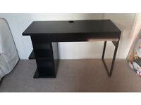 Black Ikea desk