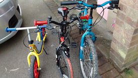 Childrens bikes, x3, (£35 no offers please)