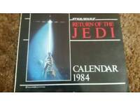 Return of the Jedi original calender 1984