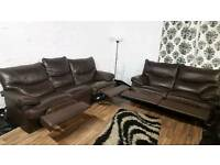 Real leather recliners 3+2 seater**Free delivery**